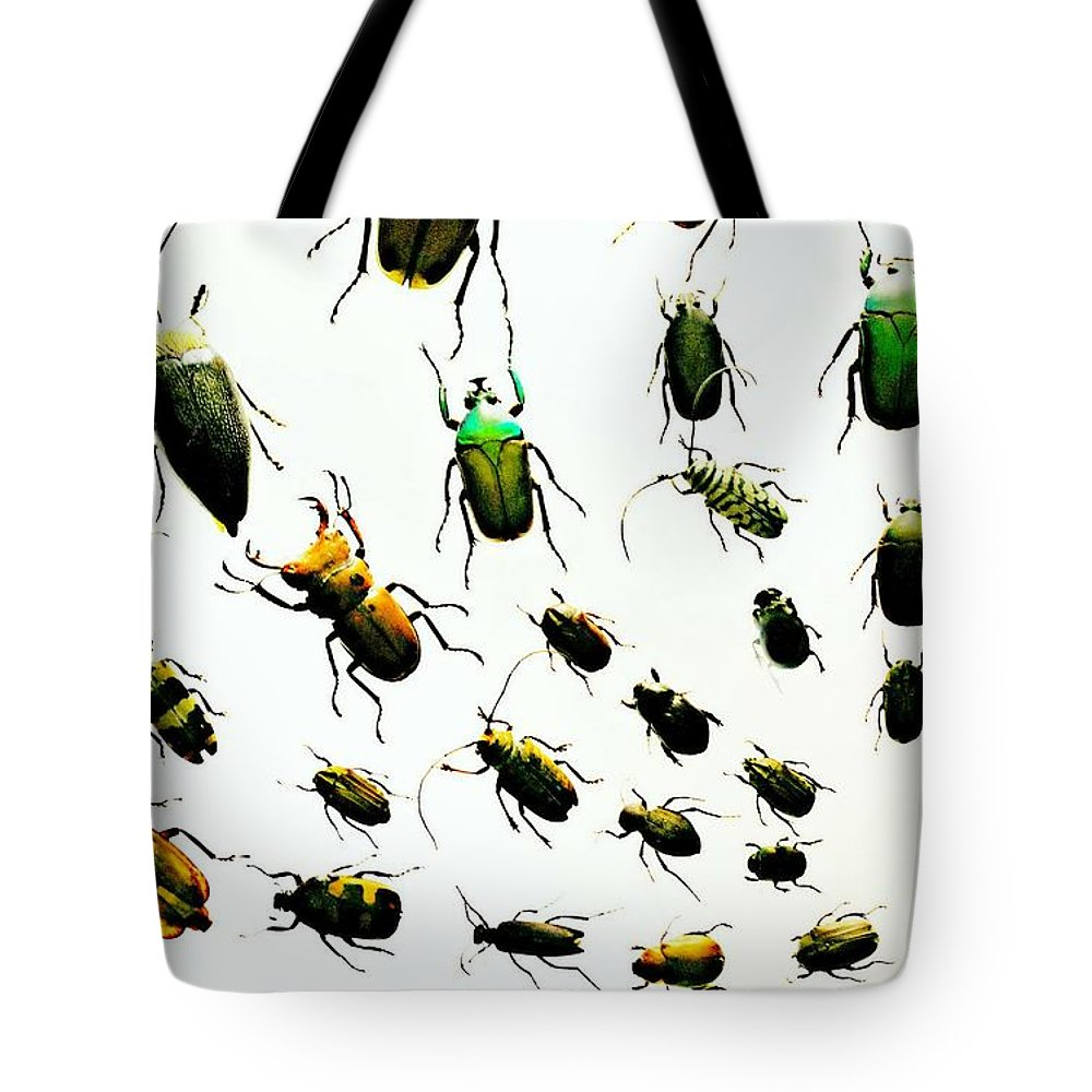 Bugs Tote Bag featuring the photograph The Beetles by Diana Angstadt