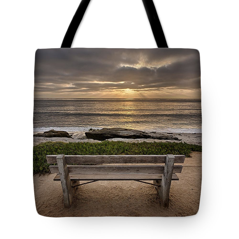 Beach Tote Bag featuring the photograph The Bench IIi by Peter Tellone