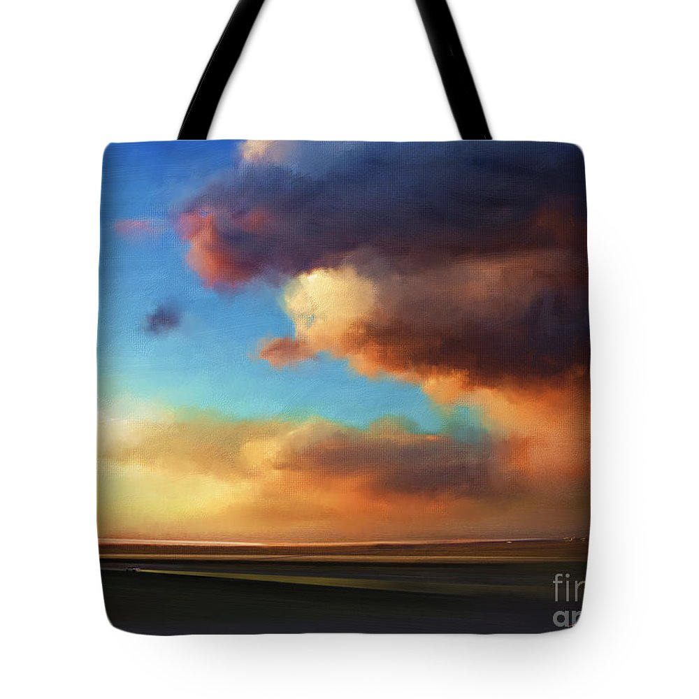 Sunset Tote Bag featuring the painting The Best Of The West by - Artificium -
