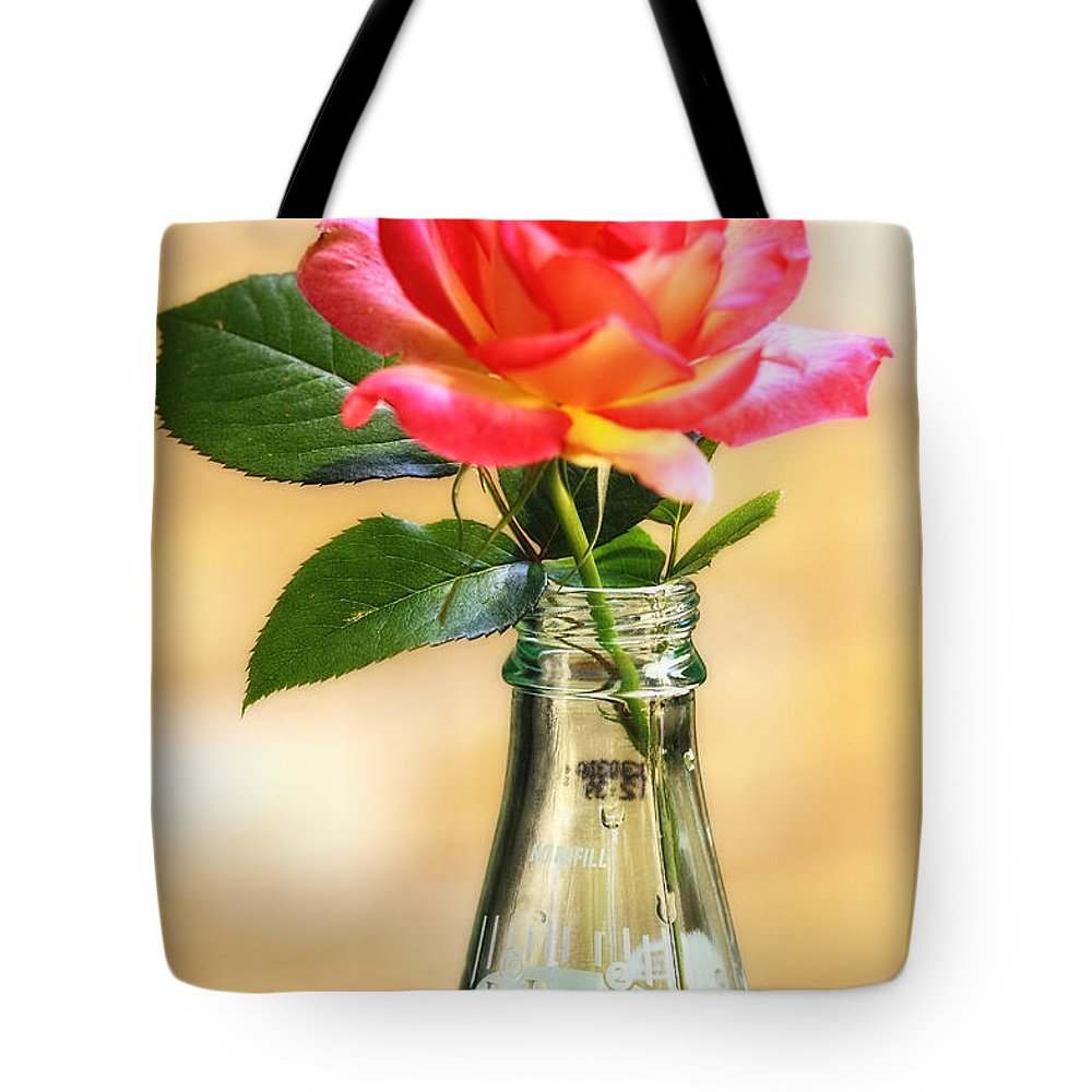 Rose Tote Bag featuring the photograph The Best With Dr Pepper by Joan Bertucci