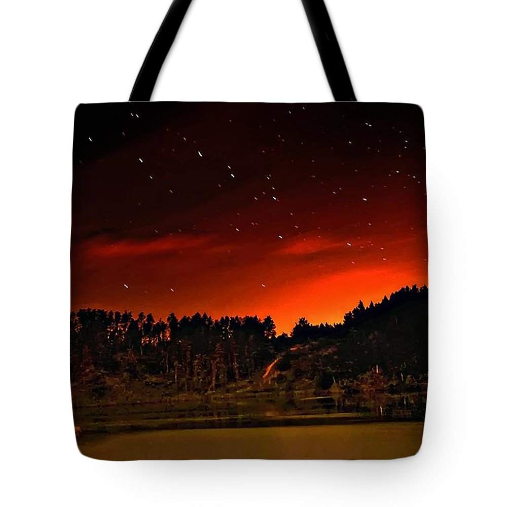 Big Dipper Tote Bag featuring the photograph The Big Dipper by Steve Harrington