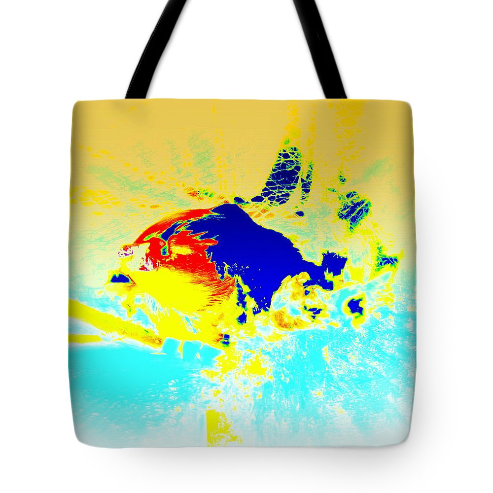 Fish Tote Bag featuring the photograph The Big Fish Wondering Where To Swim by Hilde Widerberg