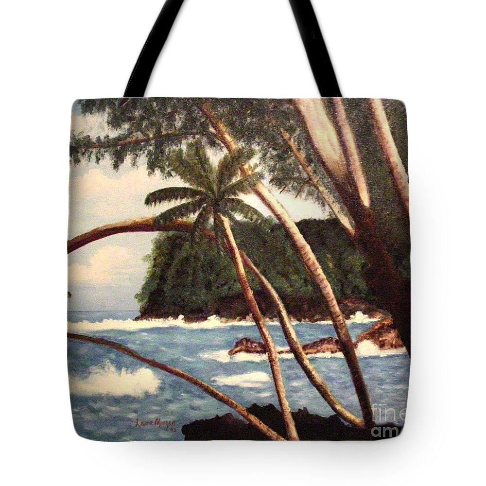 Hawaii Tote Bag featuring the painting The Big Island by Laurie Morgan