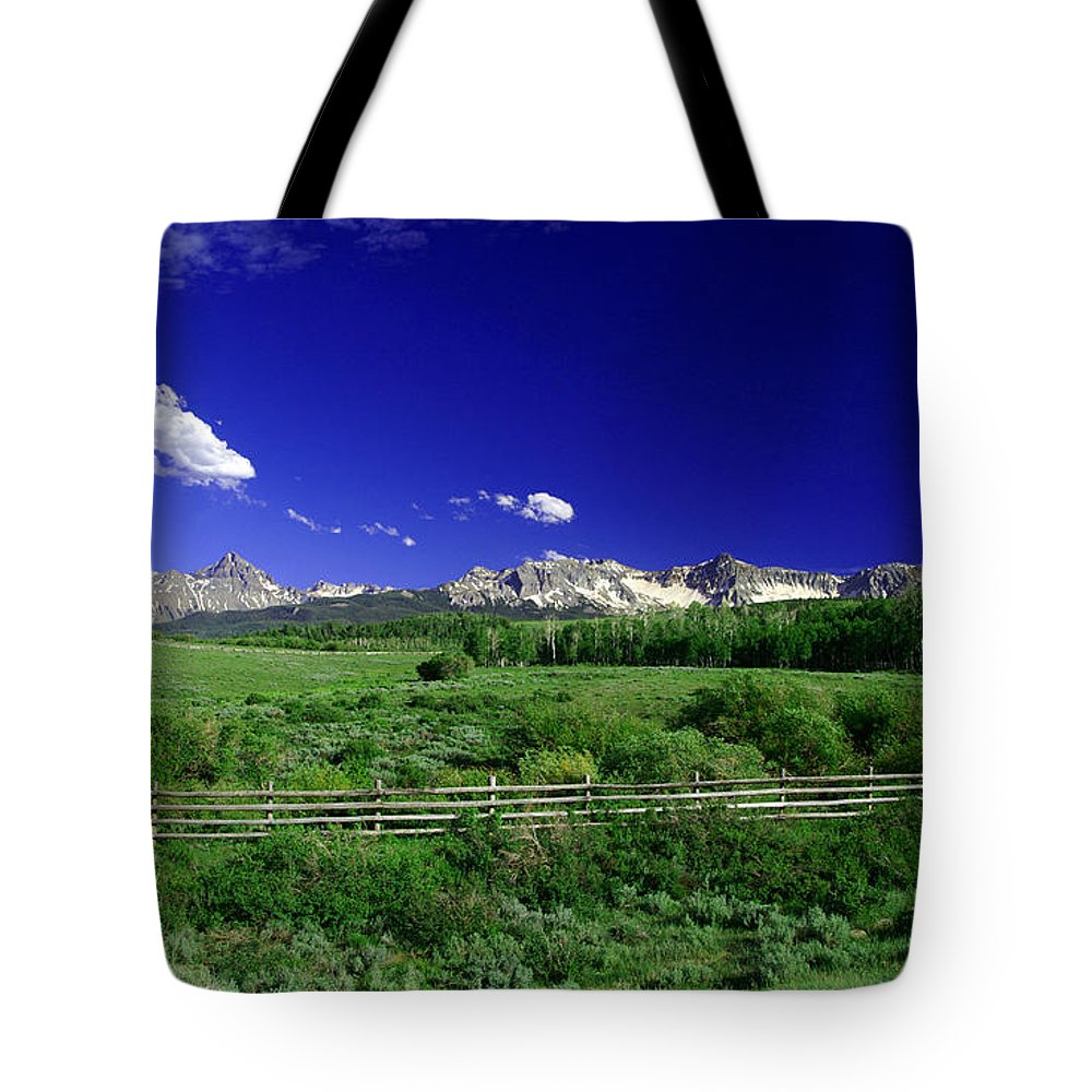 14ers Tote Bag featuring the photograph The Big Picture by Jeremy Rhoades