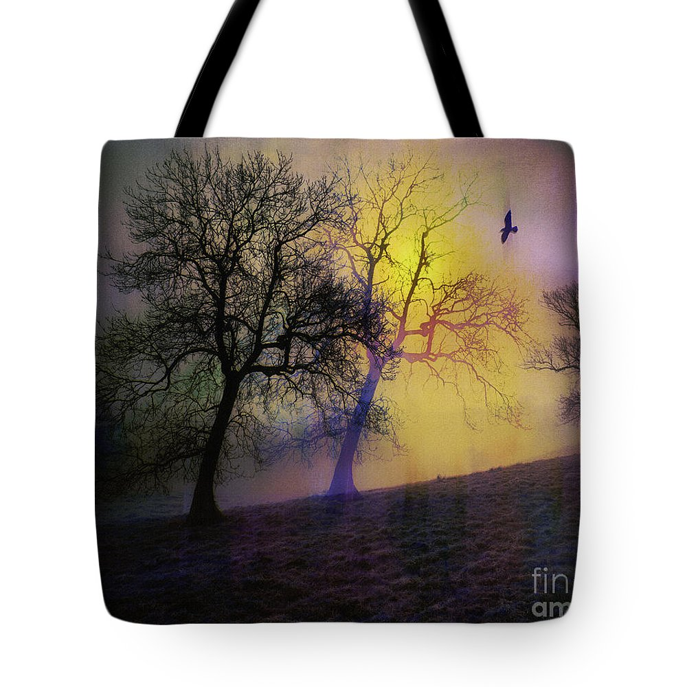 Digital Tote Bag featuring the photograph The Birds by Edmund Nagele