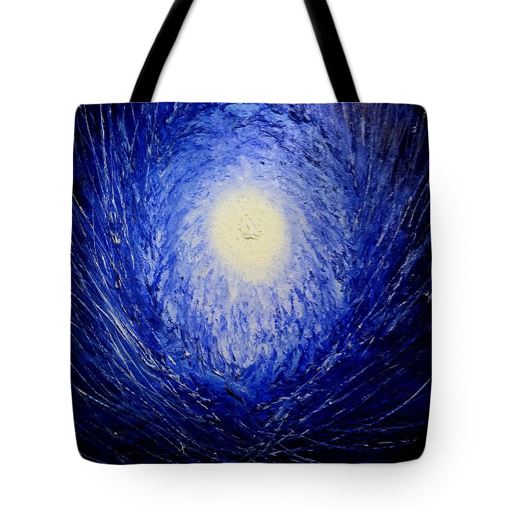 The Birth Of Universe By Ted Jec Tote Bag featuring the painting The Birth Of Universe by Ted Jec