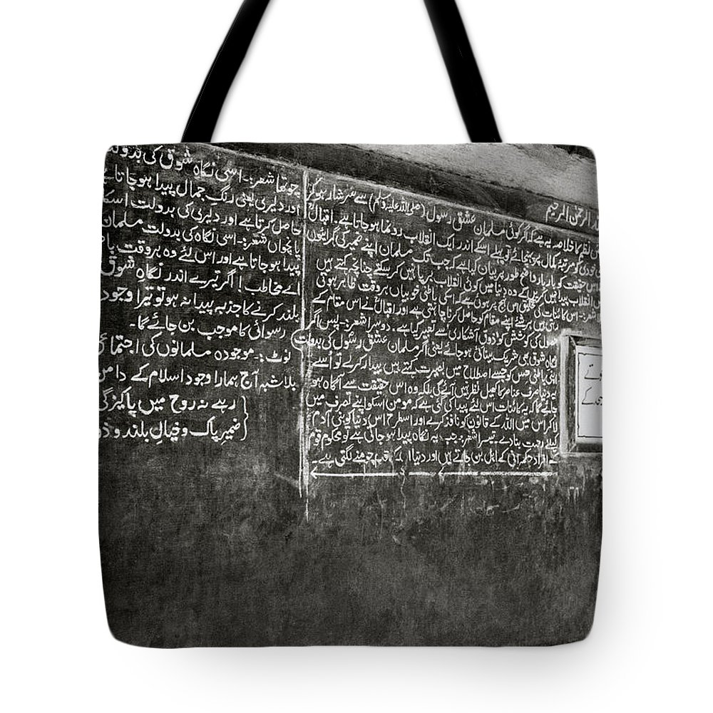 Abstract Tote Bag featuring the photograph Calligraphy by Shaun Higson