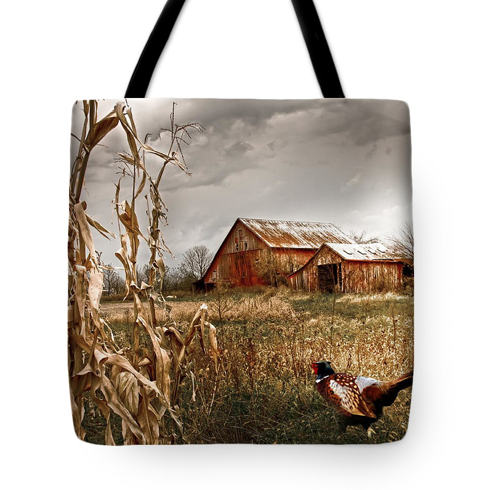 Small Farm Tote Bag featuring the photograph The Blast Off Underfoot by Randall Branham