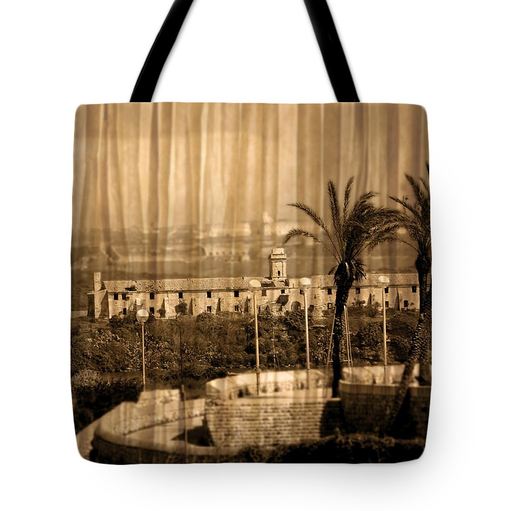 Outdoor Tote Bag featuring the photograph The Bloody Island Xviii Century Navy Hospital In Menorca Miniaturized by Pedro Cardona Llambias