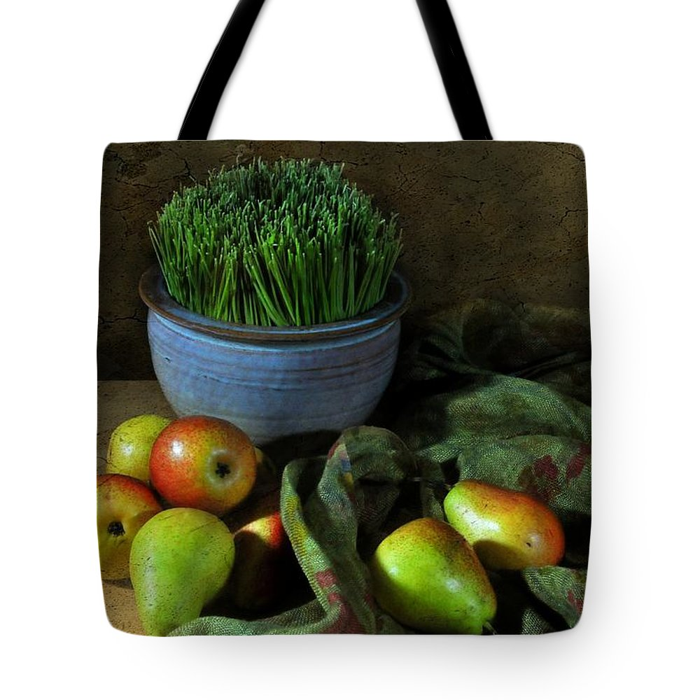 Still Life Tote Bag featuring the photograph The Blue Clay Pot by Diana Angstadt