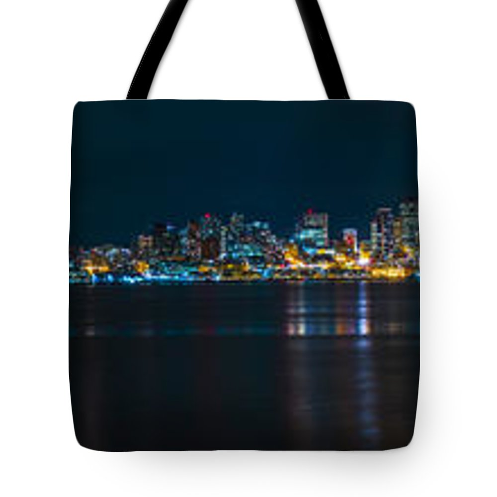 Seattle Tote Bag featuring the photograph The Blue Monster by James Heckt