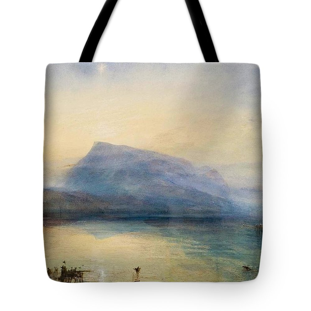 1842 Tote Bag featuring the painting The Blue Rigi - Sunrise by JMW Turner