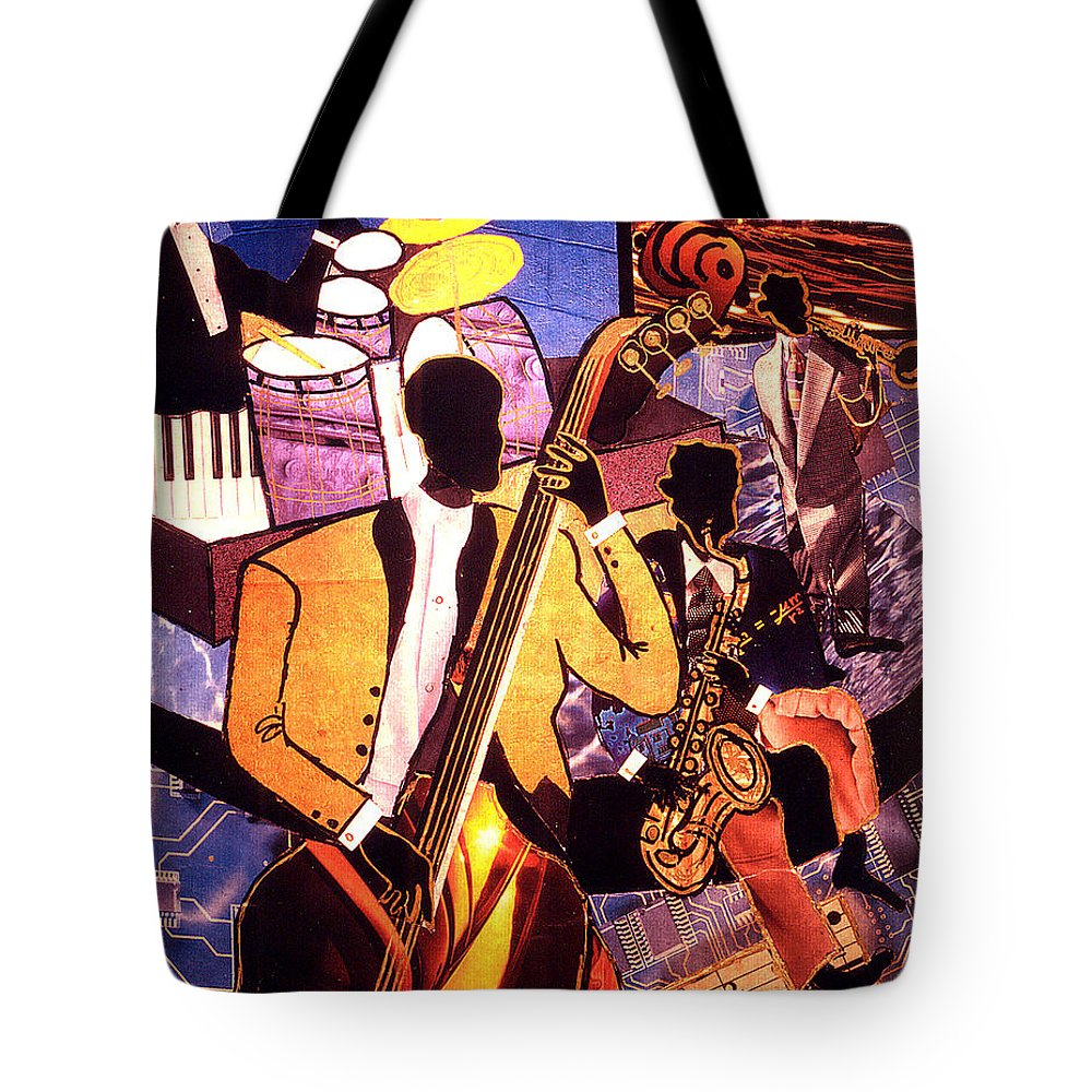 Everett Spruill Tote Bag featuring the painting The Blues People by Everett Spruill