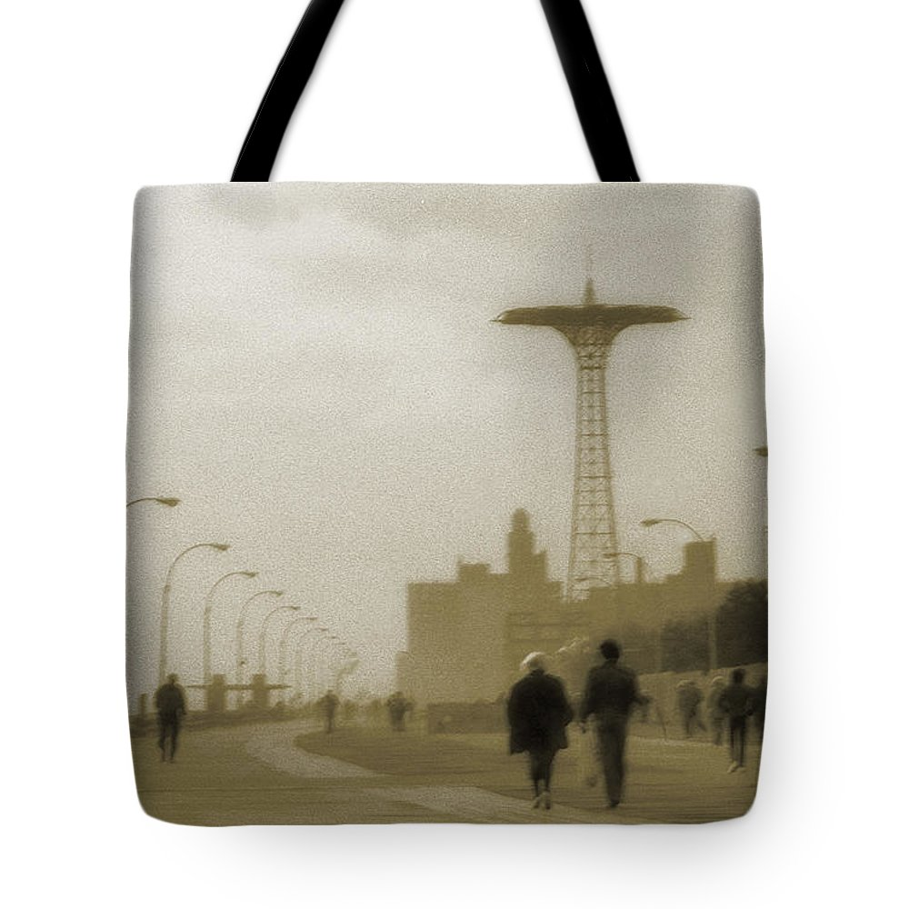 Boardwalk Tote Bag featuring the photograph The Boardwalk by Jeff Breiman