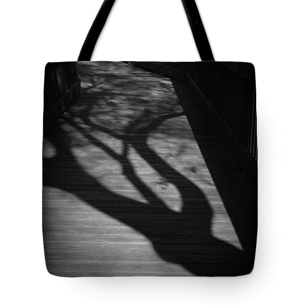 Black Tote Bag featuring the photograph The Boardwalk by Phil Penne