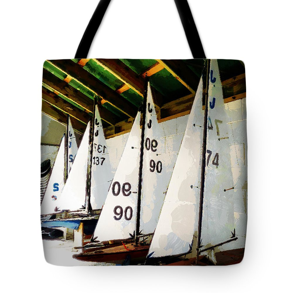 Sailing Tote Bag featuring the photograph The Boat Shed by Steve Taylor