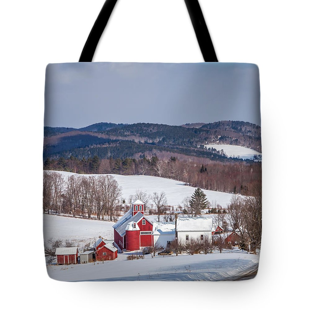Agriculture Tote Bag featuring the photograph The Bogie Mountain Farm by Susan Cole Kelly