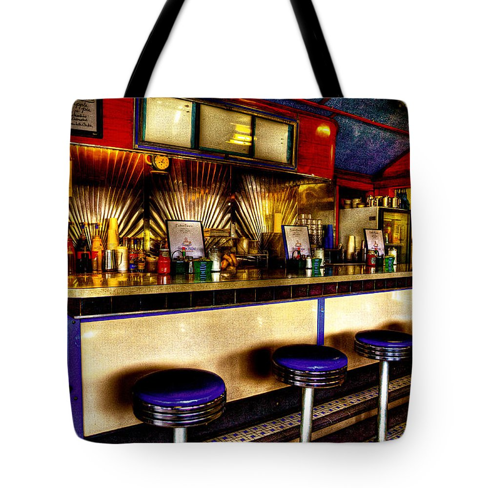 Cafe Tote Bag featuring the photograph The Bolton Bean Trolley Car Diner In Bolton Landing New York by David Patterson