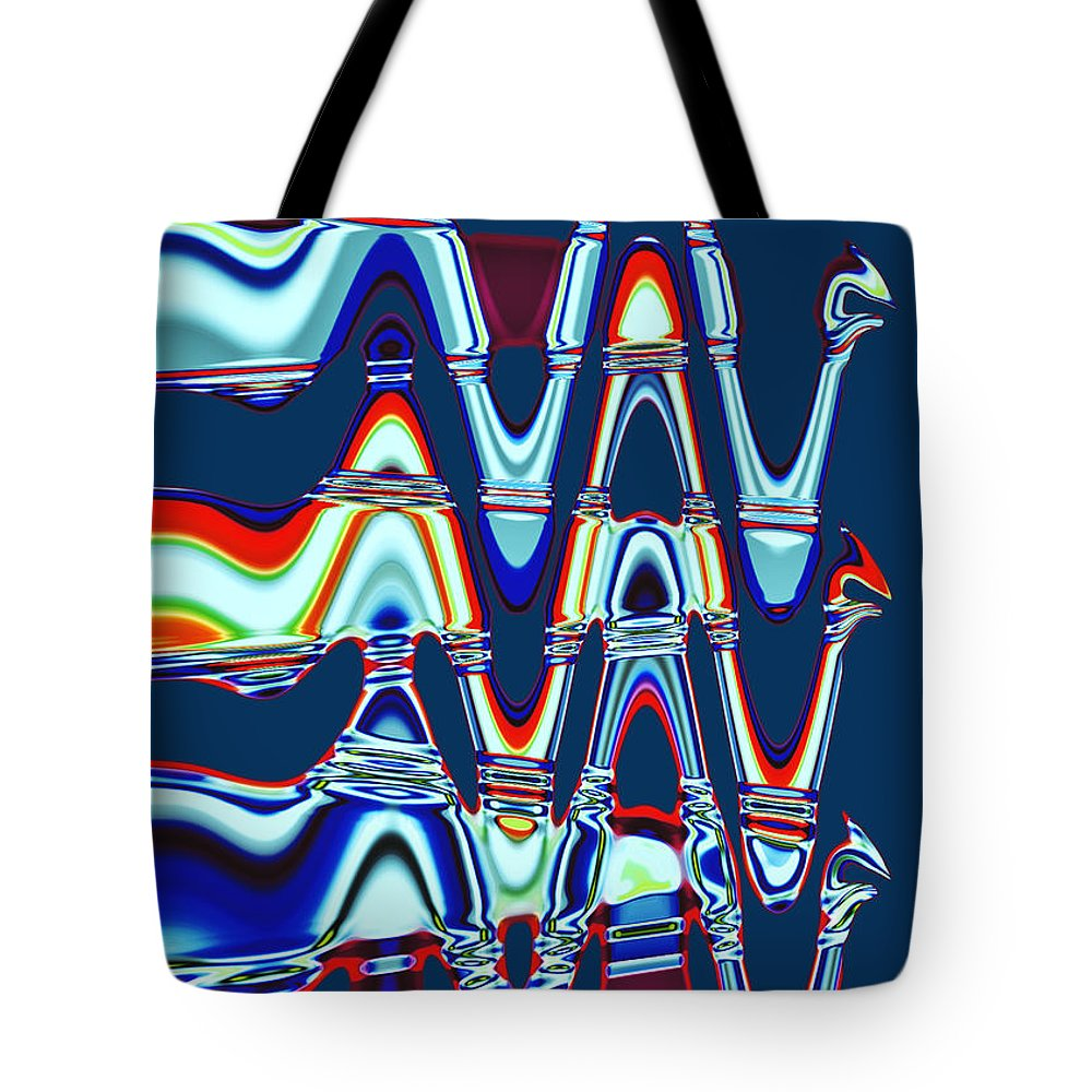 Gabriele Pomykaj Tote Bag featuring the digital art The Bots by Gabriele Pomykaj