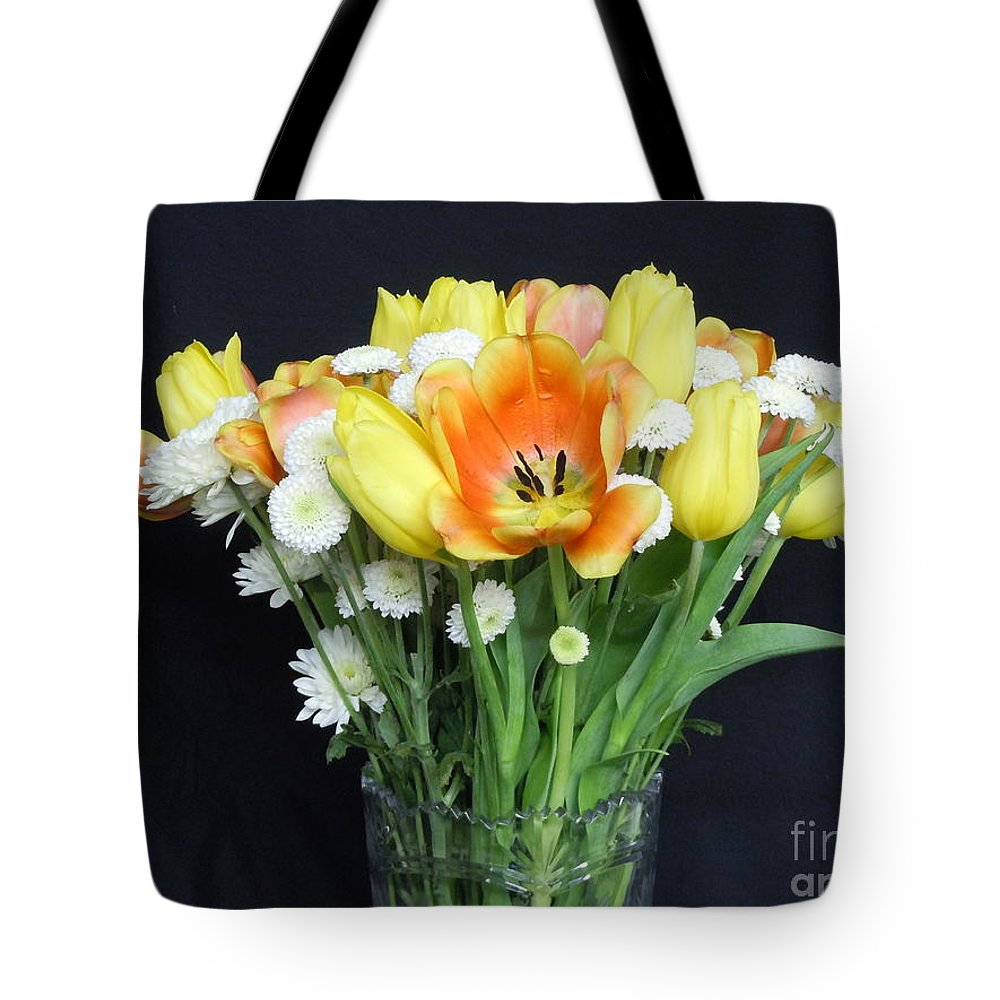 A Bouquet Of Pink Tote Bag featuring the photograph The Bouquet by John Wilson