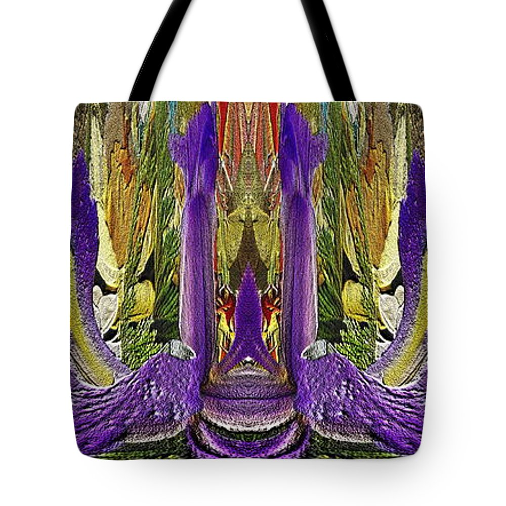 Abstract Tote Bag featuring the digital art The Bouquet Unleashed 32 by Tim Allen