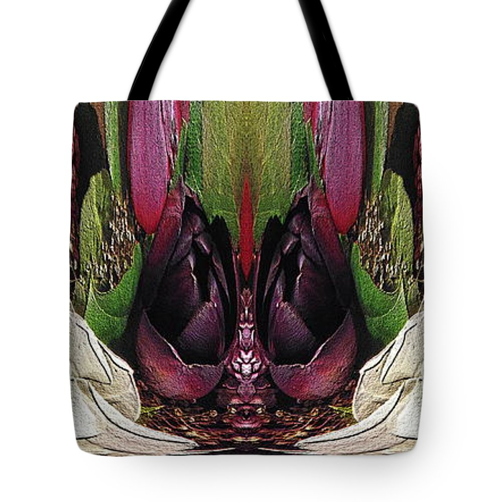 Abstract Tote Bag featuring the digital art The Bouquet Unleashed 34 by Tim Allen
