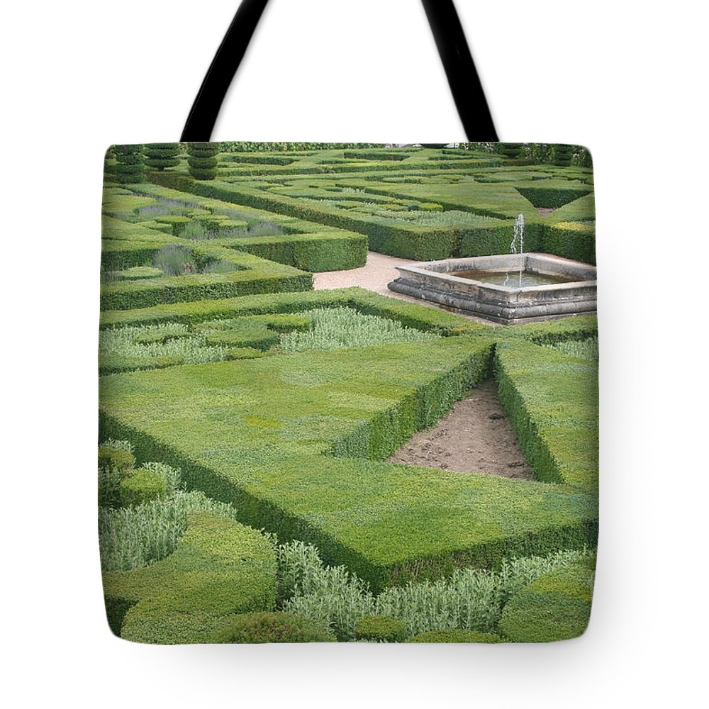 Boxwood Tote Bag featuring the photograph The Boxwood Garden At Chateau Villandry by Christiane Schulze Art And Photography