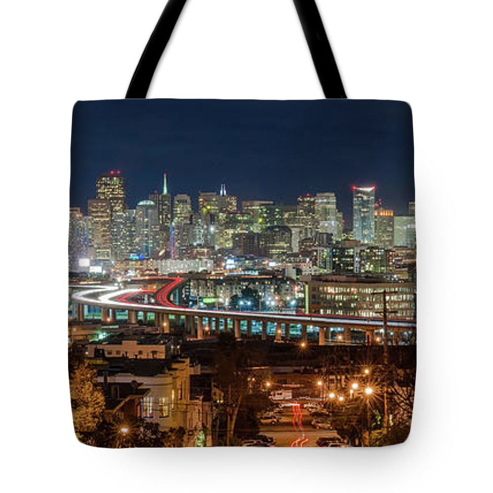 Tranquility Tote Bag featuring the photograph The Breath Taking View Of San Francisco by Www.35mmnegative.com
