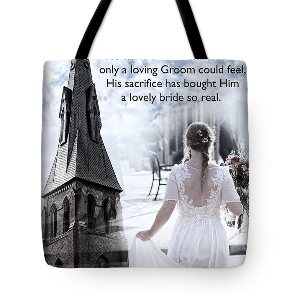 Bride Tote Bag featuring the photograph The Bride Of Christ by Kathy Clark