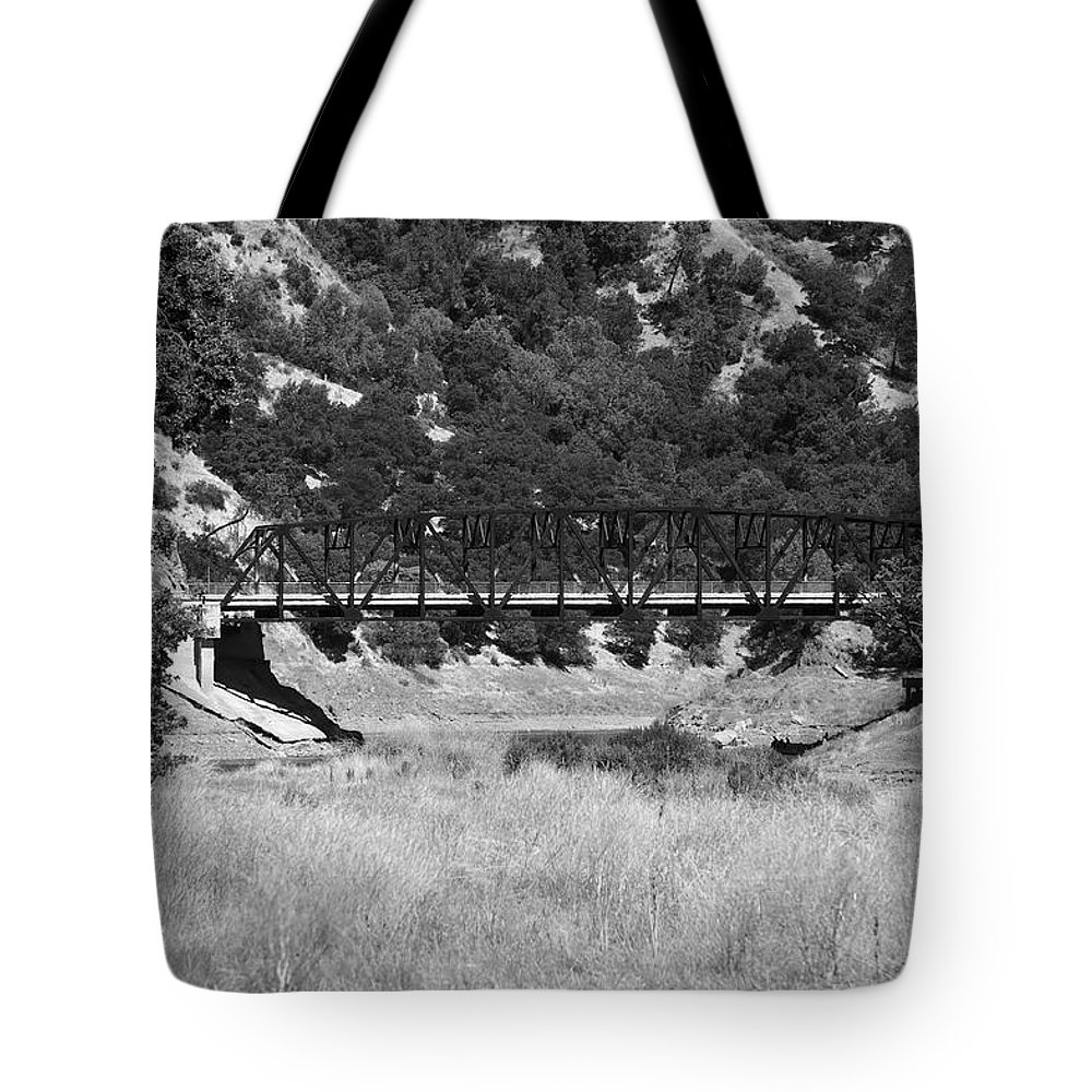 Black Tote Bag featuring the photograph The Bridge 13 by Richard J Cassato
