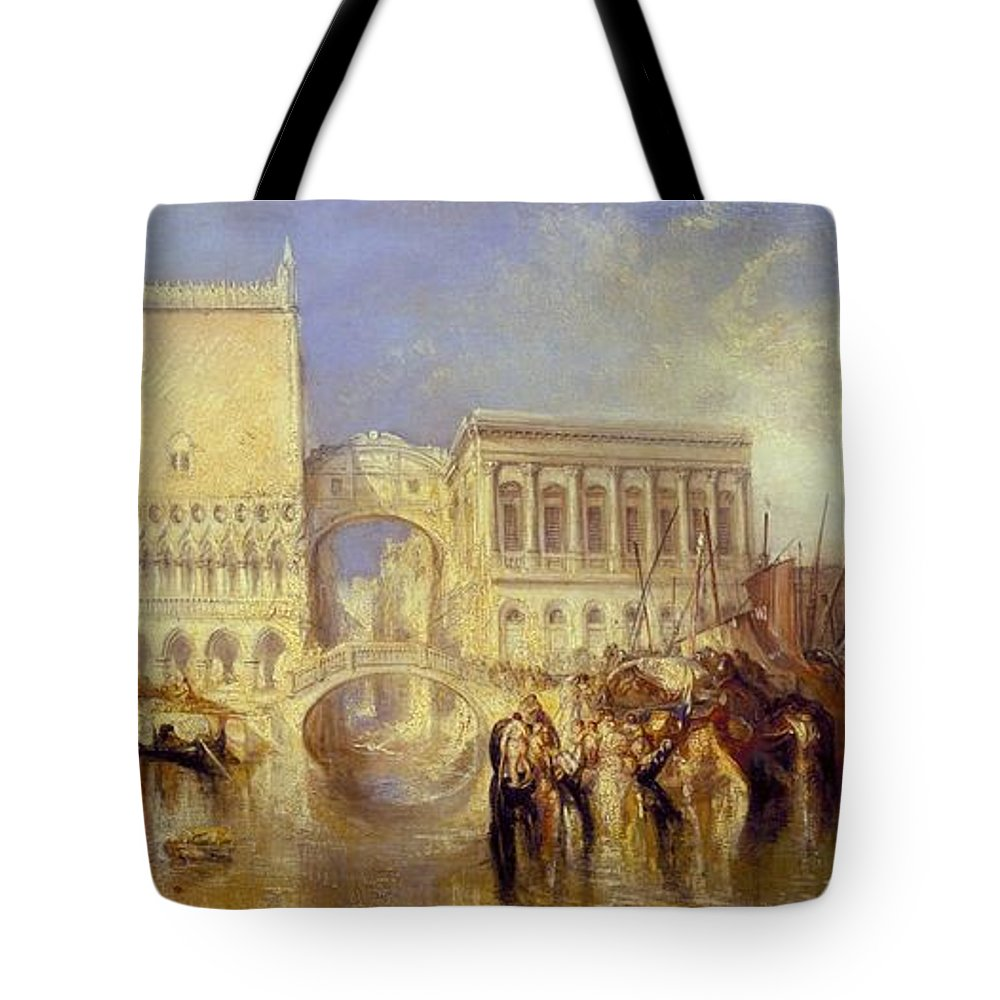 1840 Tote Bag featuring the painting The Bridge Of Sighs by JMW Turner