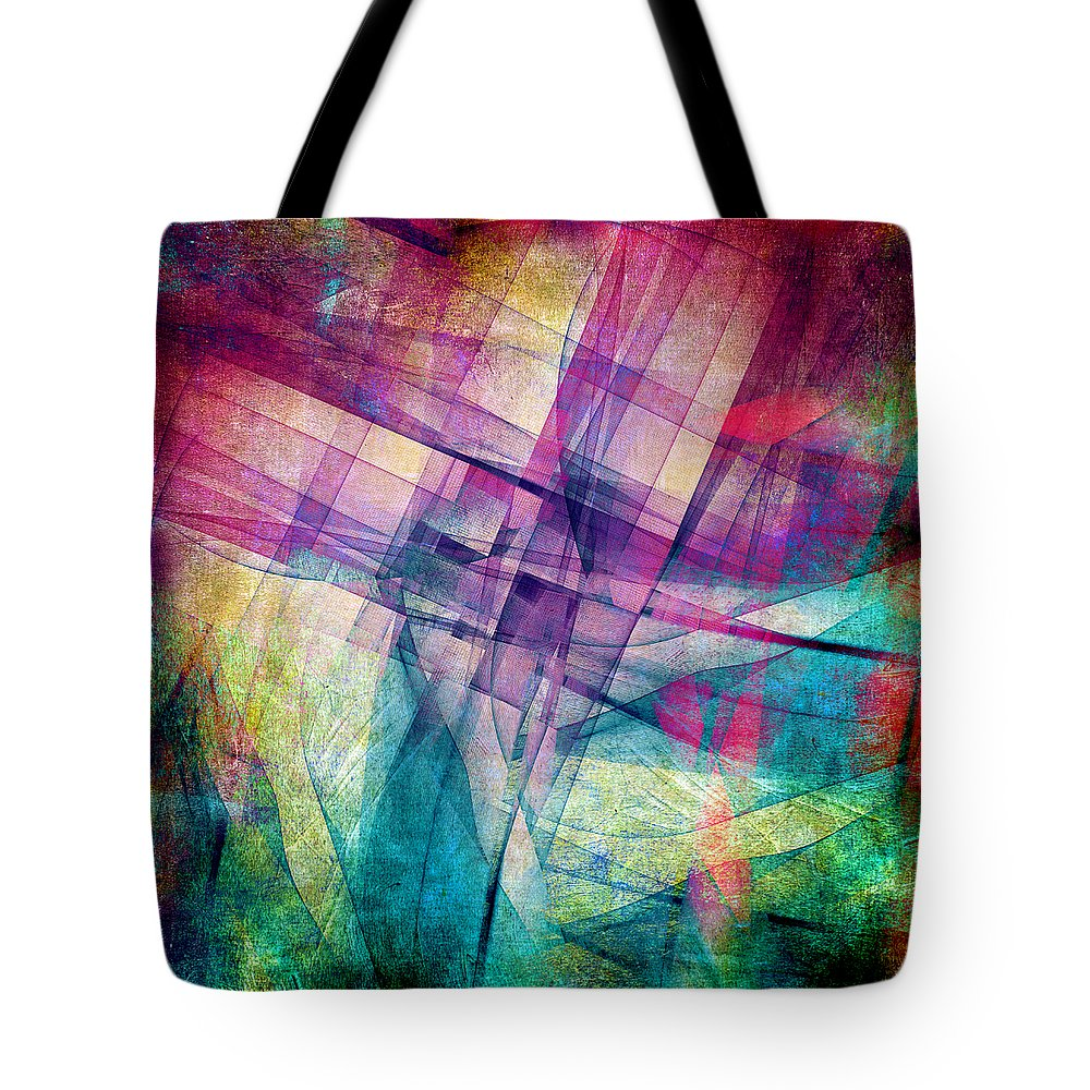 Buildings Block Tote Bag featuring the digital art The Building Blocks by Angelina Tamez