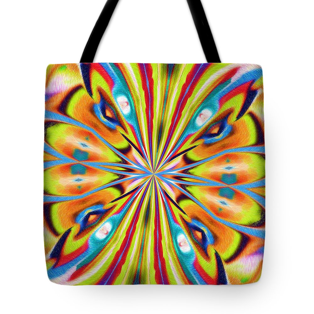 Butterfly Tote Bag featuring the digital art The Butterfly Effect by Alec Drake