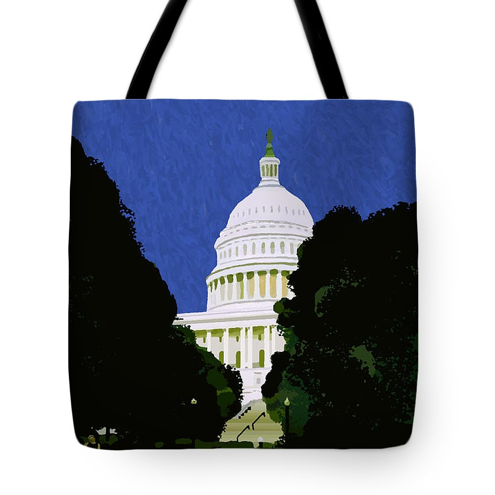 Capitol Tote Bag featuring the painting The Capitol by Pharris Art