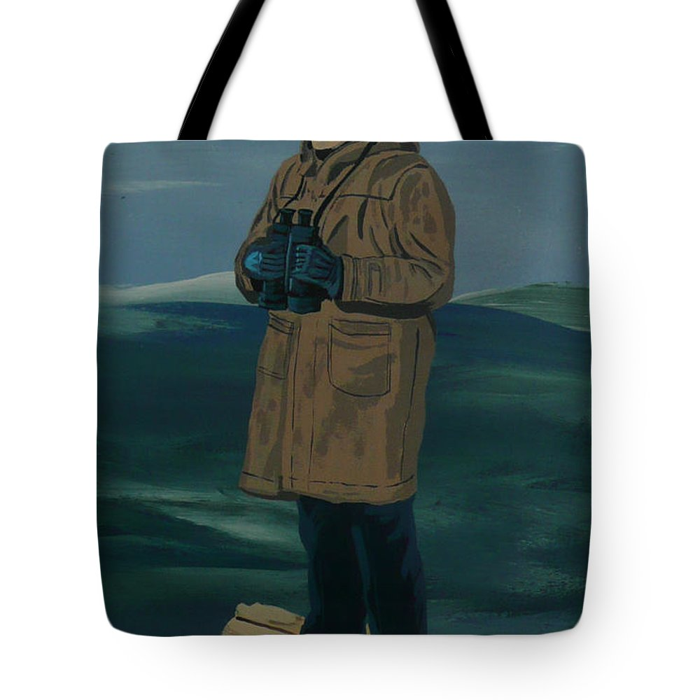 Captain Tote Bag featuring the painting The Captain by Anthony Dunphy
