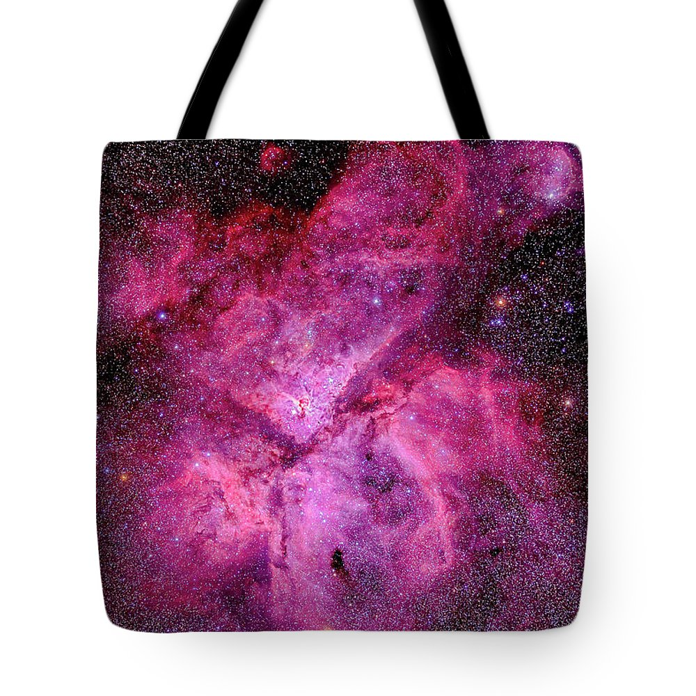 Southern Hemisphere Tote Bag featuring the photograph The Carina Nebula In The Southern Sky by Alan Dyer/stocktrek Images