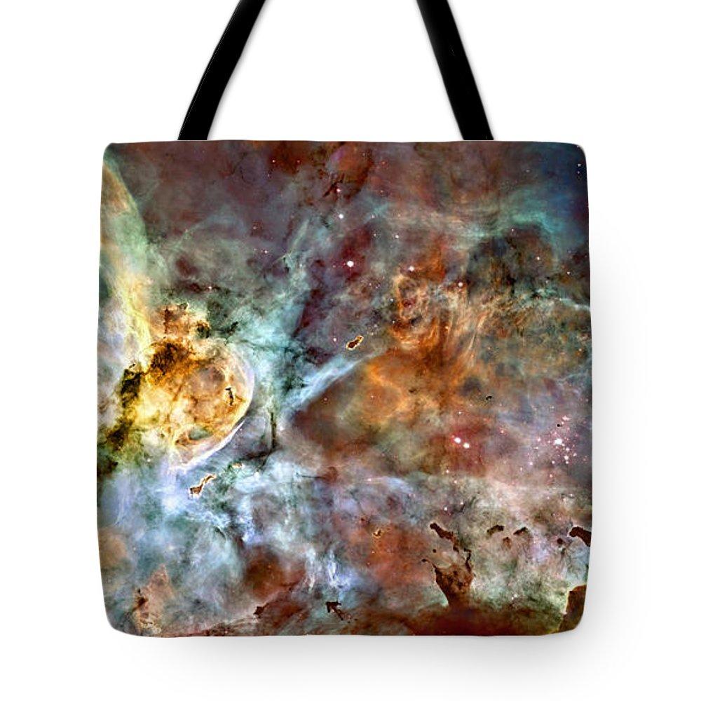 Carina Tote Bag featuring the photograph The Carina Nebula by Ricky Barnard