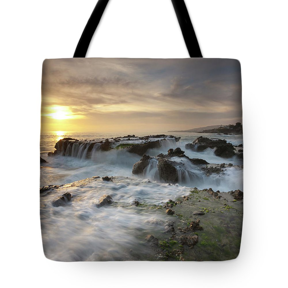 Scenics Tote Bag featuring the photograph The Cauldron - Victoria Beach by Images By Steve Skinner Photography