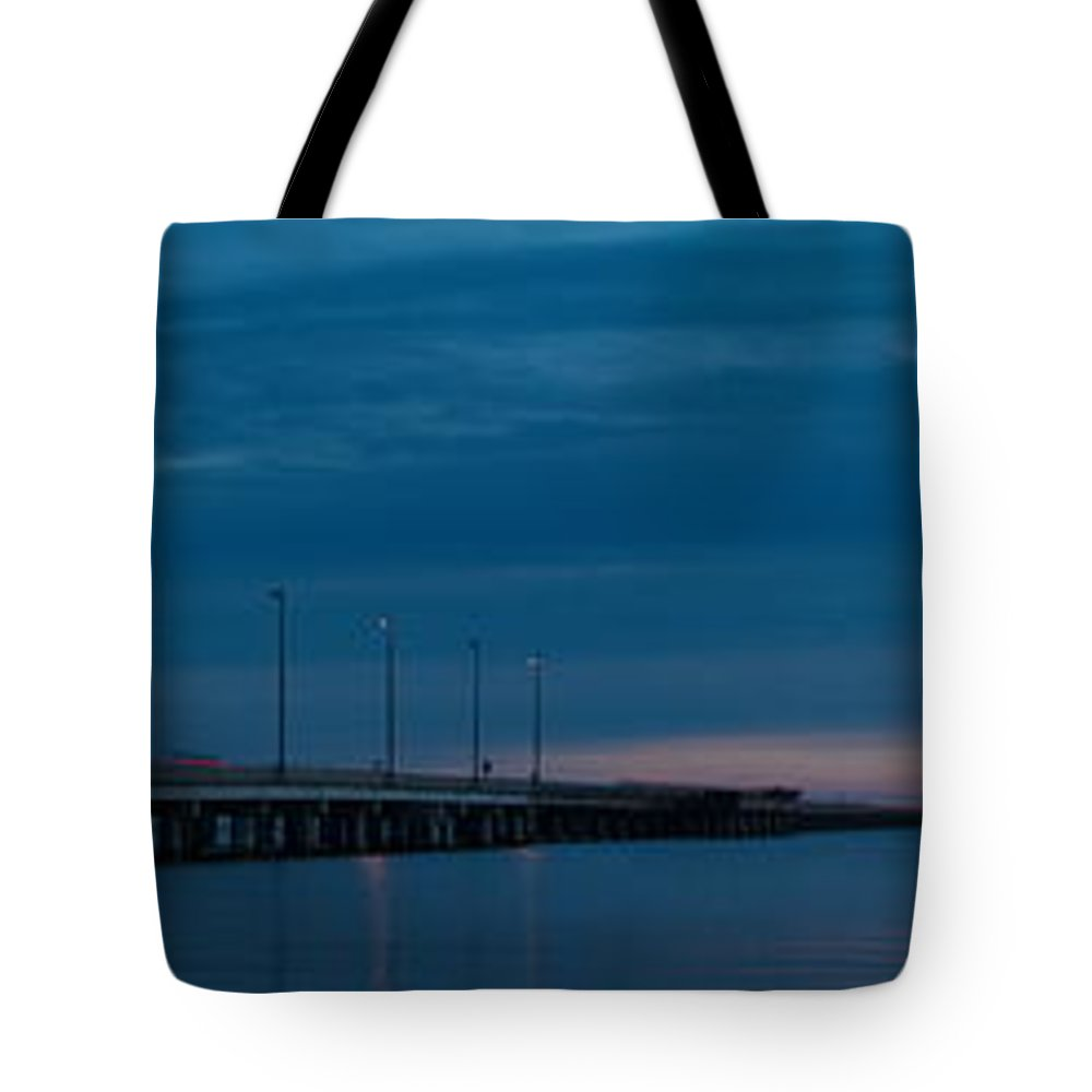 Panoramas Tote Bag featuring the photograph The Causeway Bridge by Anthony Walker Sr