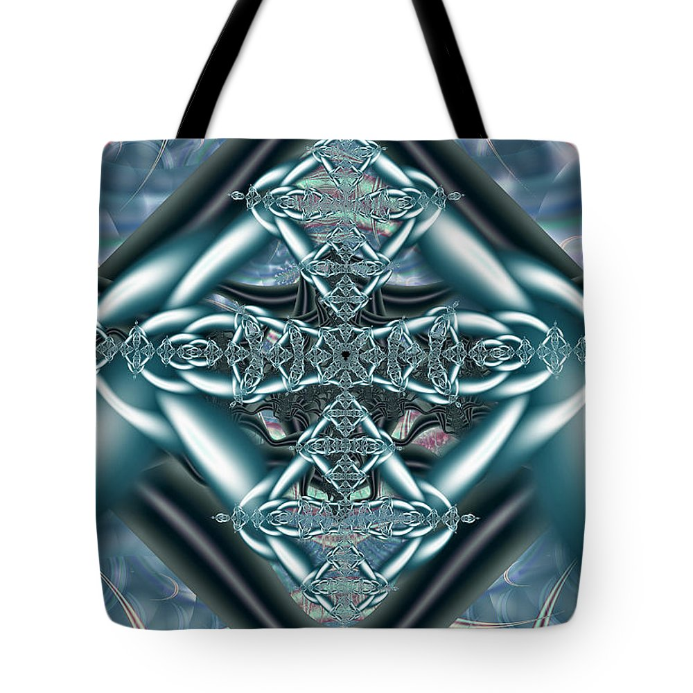 Digital Art Tote Bag featuring the digital art The Celtic Knot by Mary Almond