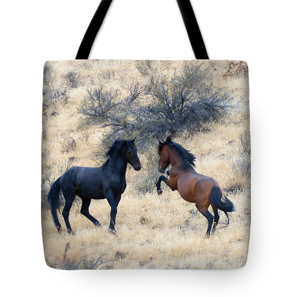Challenge Tote Bag featuring the photograph The Challenge by Mike Dawson