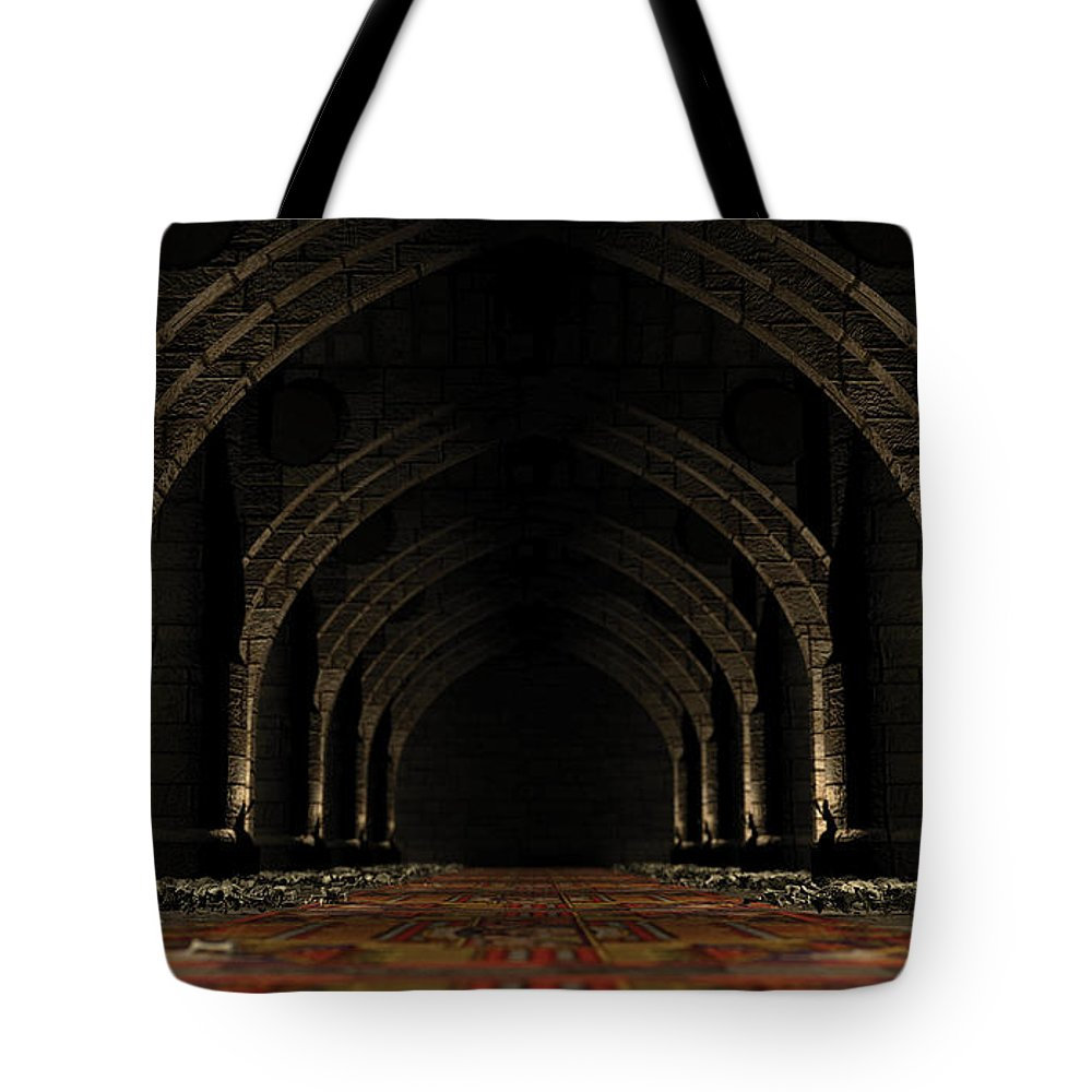 Usherwood Tote Bag featuring the digital art The Chamber Of Keys by James Kramer