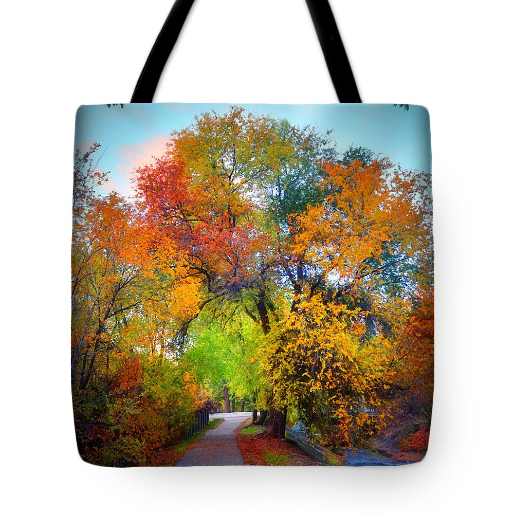 Autumn Tote Bag featuring the photograph The Changing Tree by Tara Turner