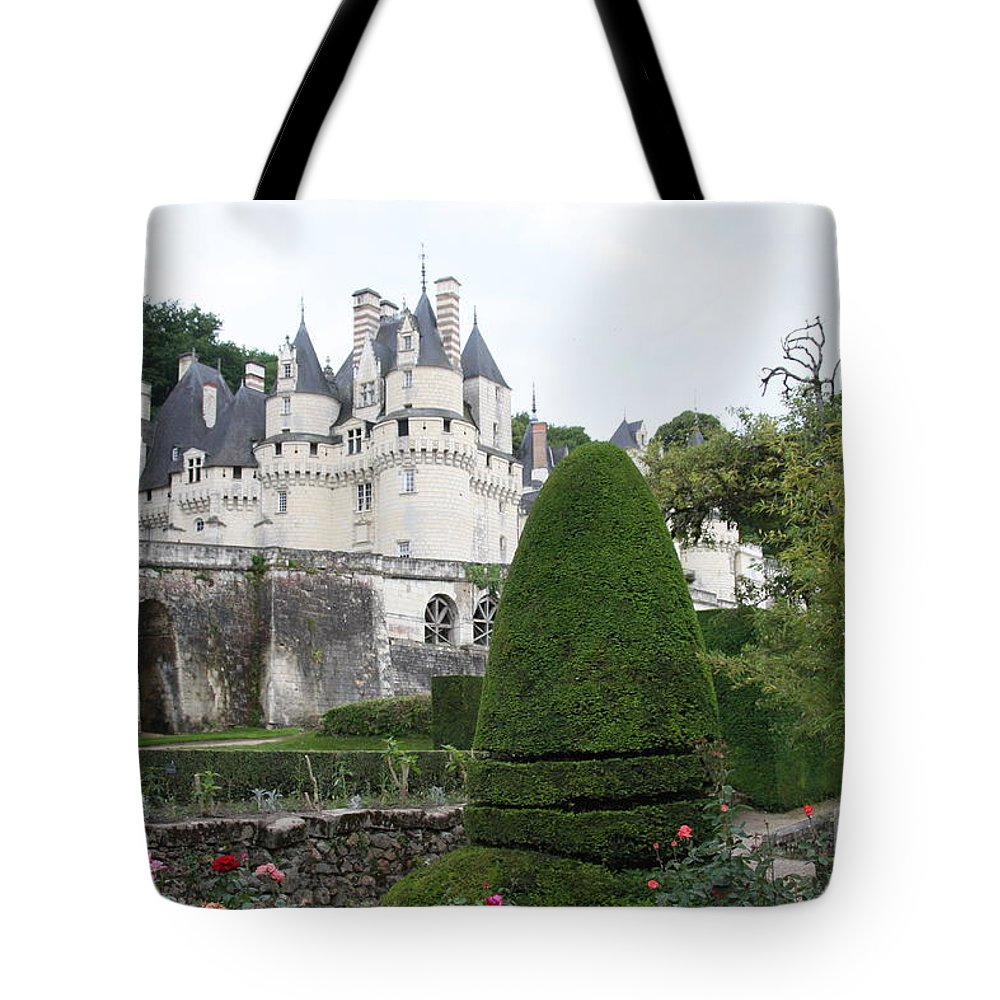 Palace Tote Bag featuring the photograph The Chateau's Towers View by Christiane Schulze Art And Photography