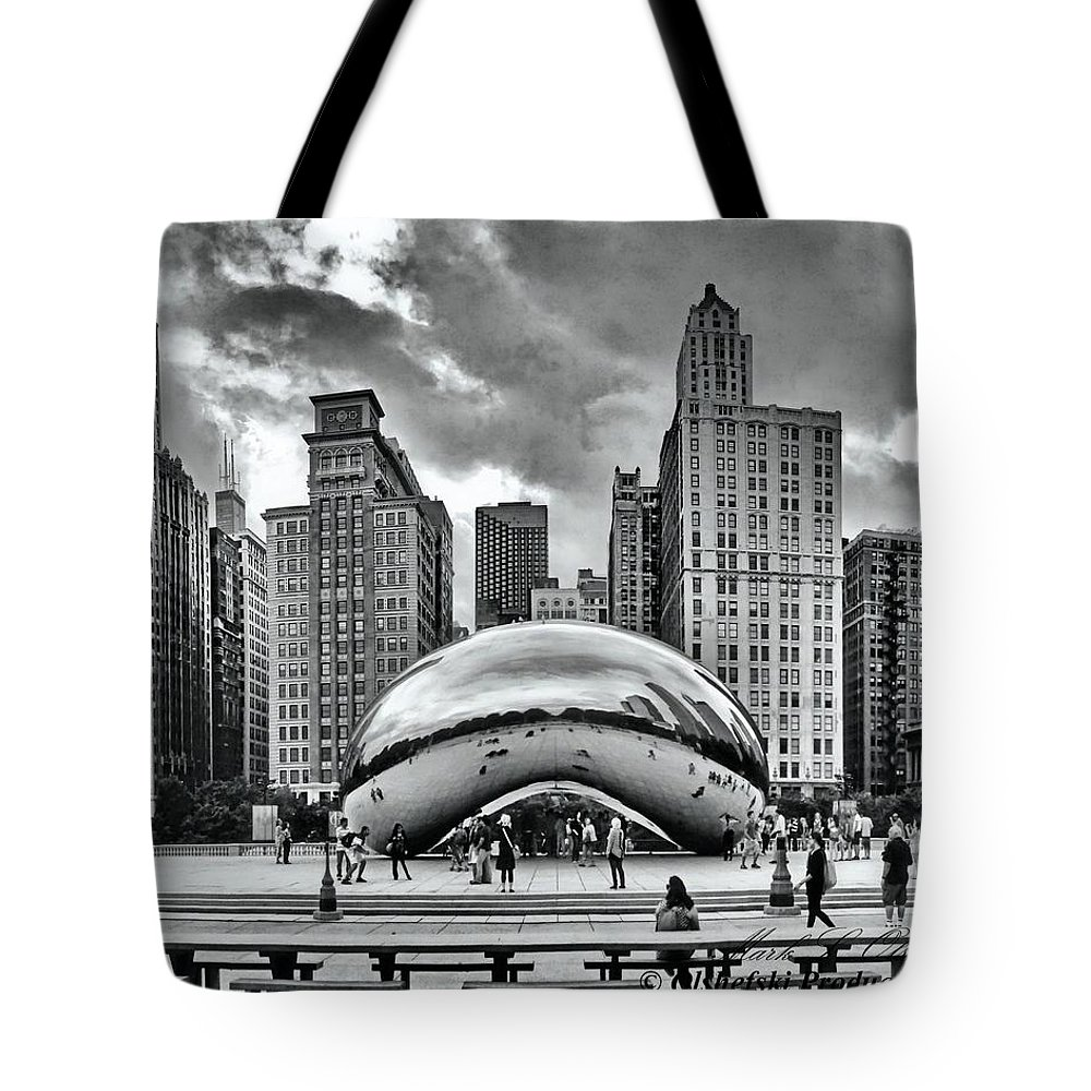 Sky Scrapers Tote Bag featuring the photograph The Chicago Bean II by Mark Olshefski