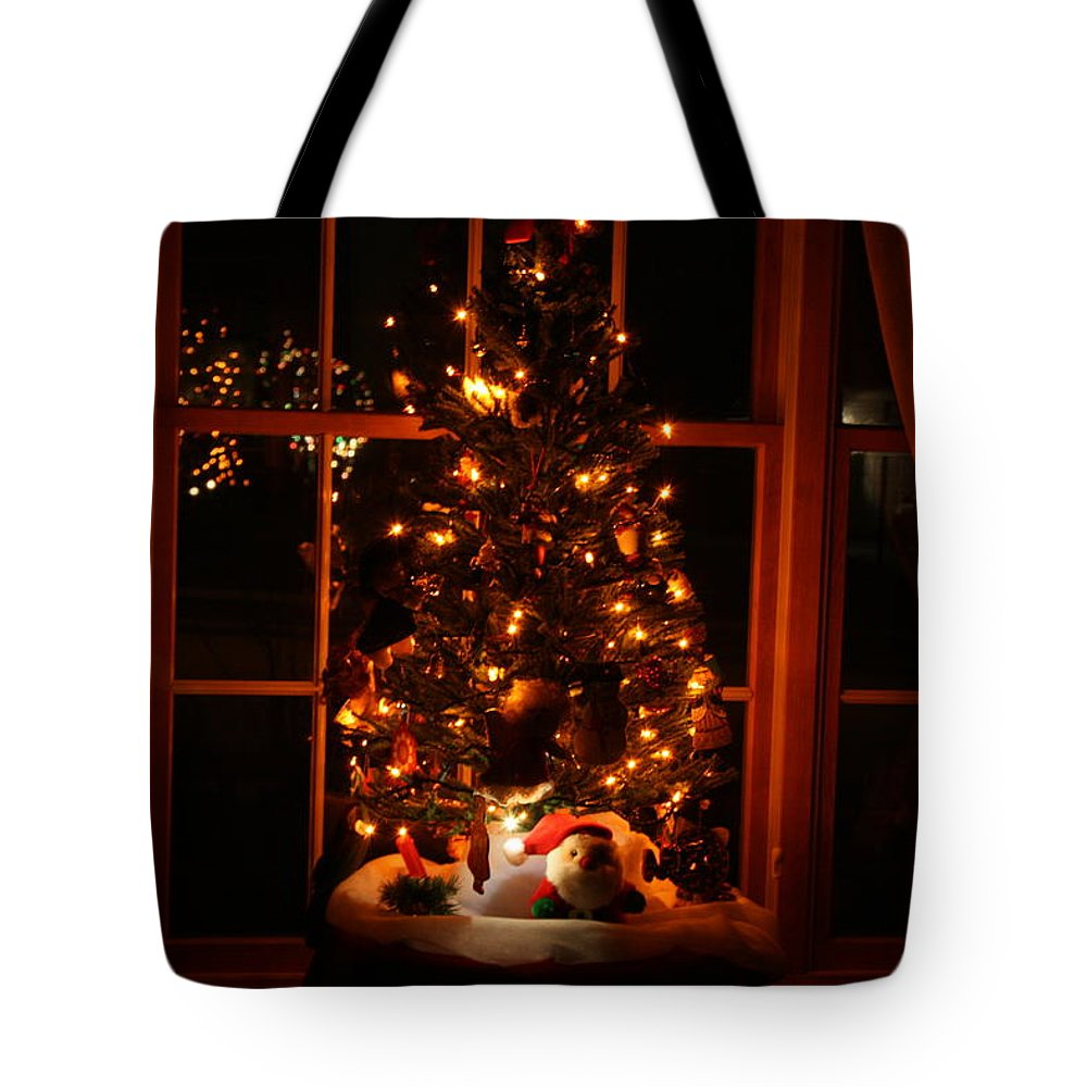 Nature Tote Bag featuring the photograph The Christmas Tree by Kay Novy