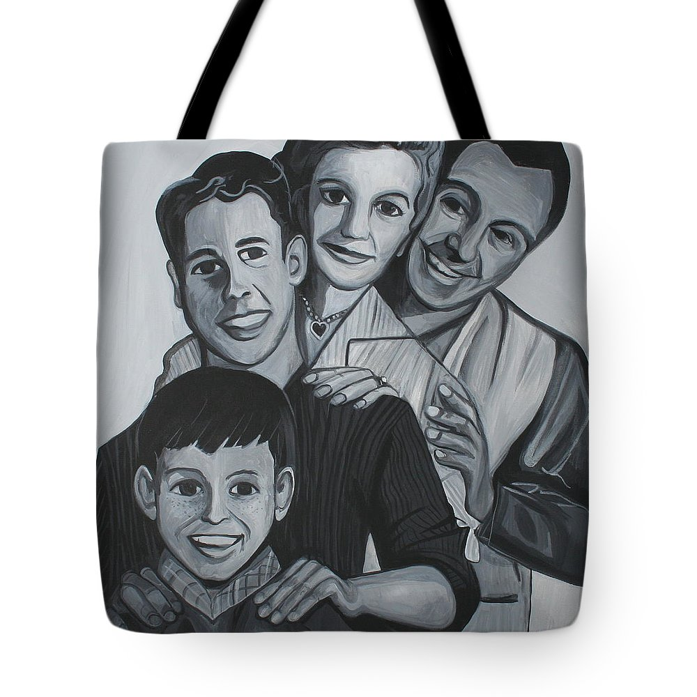 Leave It To Beaver Tote Bag featuring the painting The Cleavers by Kate Fortin