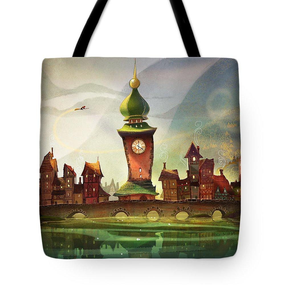 Clock Paintings Tote Bags