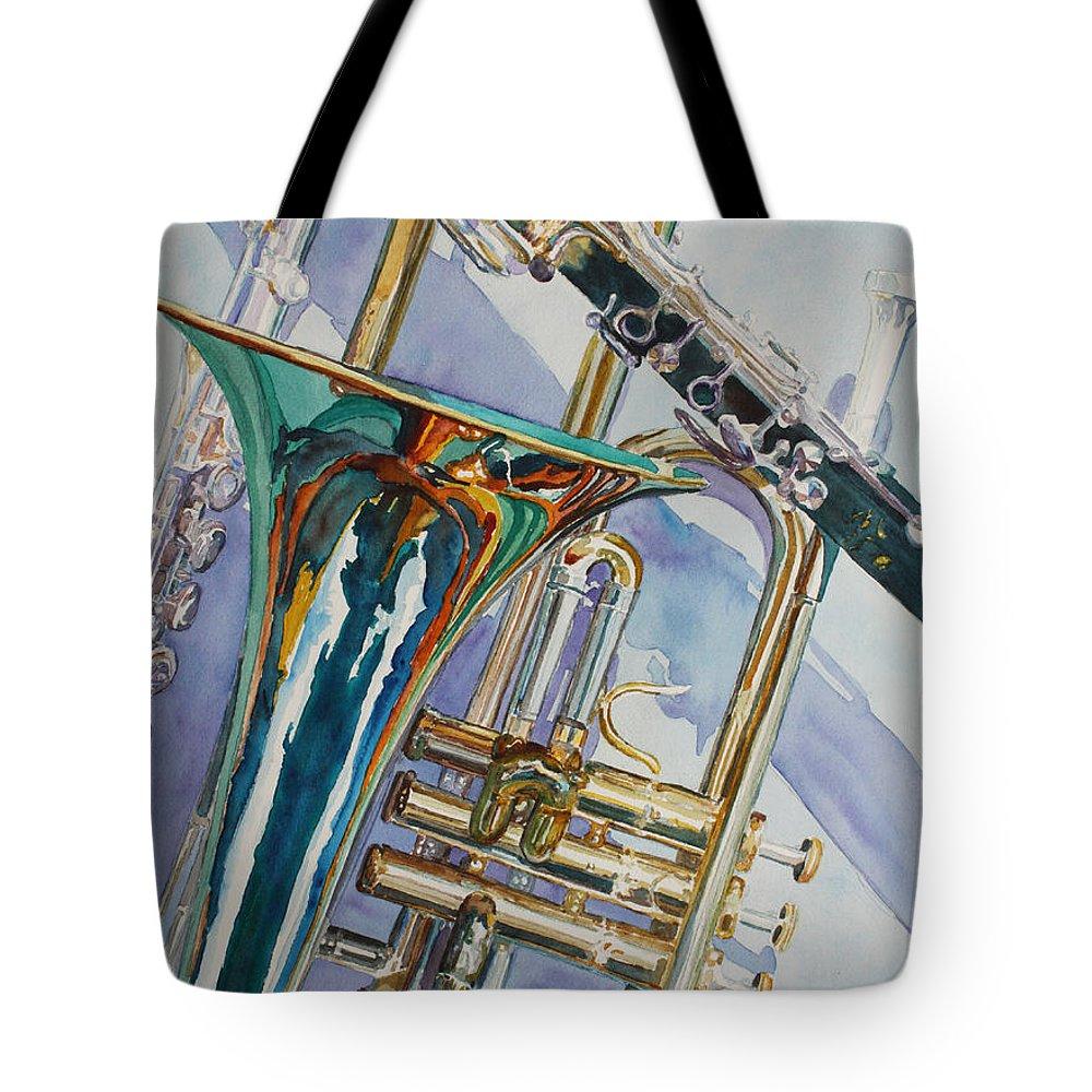 Trombone Tote Bags