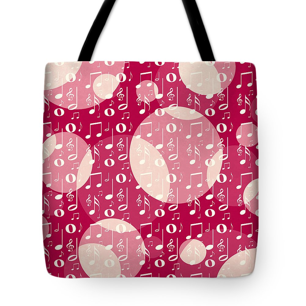 Music Notes Tote Bag featuring the digital art The Color Of Music by Shawna Rowe